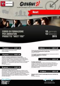 """Il calendario del corso di formazione per animatori del progetto """"Meet You!"""""""